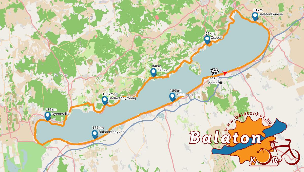 balaton körút térkép Balatonkör balaton körút térkép