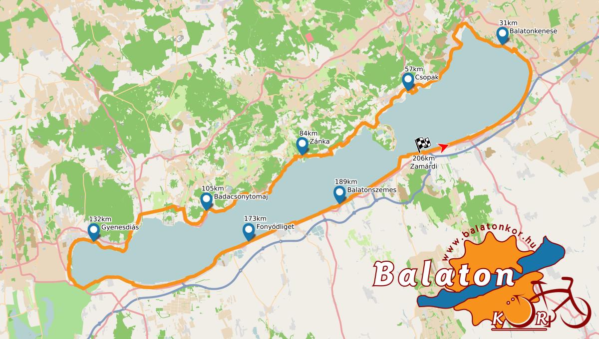 balaton körbetekerés térkép Balatonkör balaton körbetekerés térkép
